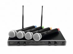 UHF-104 mikrofonní set 4 kanálový