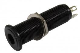 Inserting jack konektor black