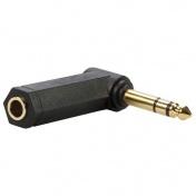 Úhlová sluchátková redukce jack 6,3 stereo