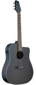 Elektroakustická kytara SA30DCE-BK