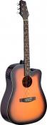 Elektroakustická kytara SA30DCE-BS