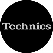 Slipmat Technics black/silver logo