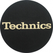 Slipmat Technics Black/Gold logo