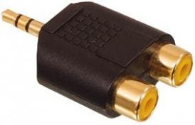 Redukce Jack 3,5mm vidlice stereo / 2x cinch zásuvka