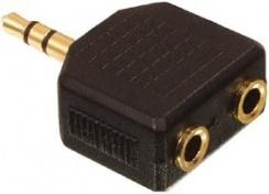 Redukce Jack 3,5mm vidlice stereo / 2x Jack 3,5mm zásuvka stereo