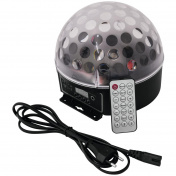 LED BC-7 Half Ball 6x 1W DMX IR