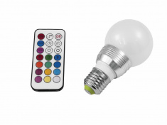 LED A60 230V 5W E27 multicolor RC