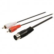 Kabel DIN5 vidlice / 2x RCA, 1m