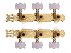 Ladící mechanika na klasickou kytaru zlatá (pár)