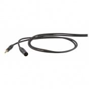 Nesymetrický kabel Jack 6,3 mono - XLR M 3m
