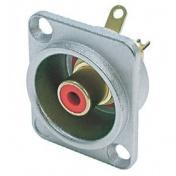 Panelový RCA konektor červený