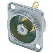 Panelový konektor cinch samice - bílý