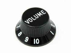 Plast knob černý VOLUME