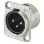 NC3MDL1, panelový XLR M konektor