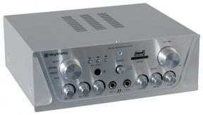 Karaoke zesilovač FM / USB / SD stříbrný