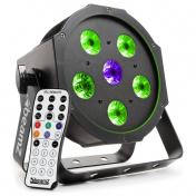 LED FlatPAR 5x 6W TCL + 6W UV