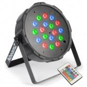 LED FlatPAR 18x1W IR DMX