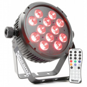 LED FlatPAR 12x6W QCL, IR, DMX