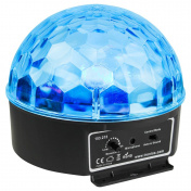 Half Ball 6x 3W RGBAWP LED IR