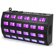 UV Stroboskop 24 x 3W LED