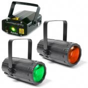 Světelný set - laser a 2 paprskové efekty