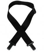 """2"""" popruh s plastovými zámky - černý"""
