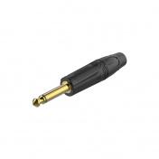 Konektor Jack 6,3 mm mono černý