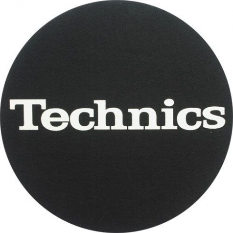 Slipmat Technics Black/white logo