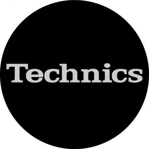 Slipmat Technics black/silver logo