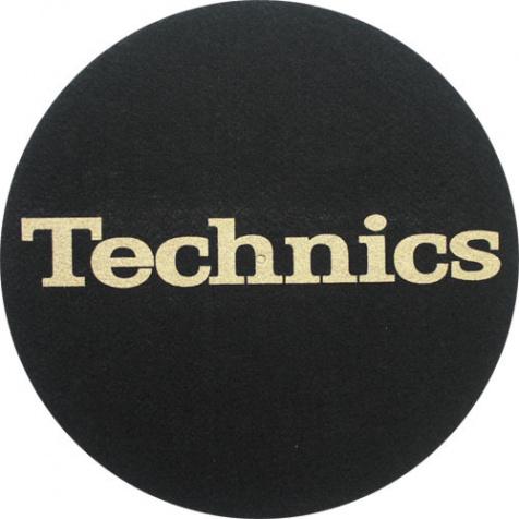 Slipmat Technics Black/Gold logo