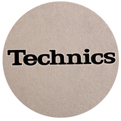 Slipmat Technics silver/black logo