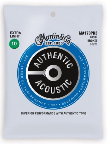 Authentic SP 80/20 Bronze Extra Light - 3 Packs