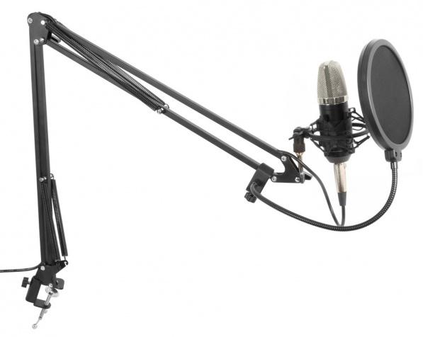 Studiová sada mikrofonu s ramenem a POP filtrem