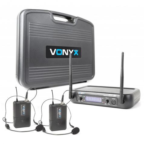 WM732H UHF sada 2 náhlavní mikrofony